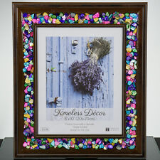 Colorful Picture Frame  Great Gift-  Bright Crushed Seashell