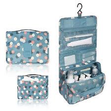 Travel Organizer Toiletry Cosmetics Makeup Hanging Shaving Kit Storage Bag Blue