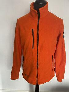 Mens Orange Helly Hansen Workwear Full Zip Fleece Size Large