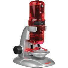 Microscopio DIGITALE Tasco 10 60 120 x 10 60 120 X Rosso Argento