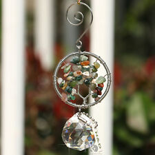 Tree of Life Stone Crystal Prism Suncatcher Ornament  Hanging Car Decor Gifts