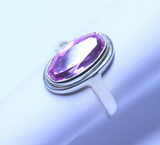 European Lab Created Light Pink Sapphire in a Sterling Silver (925) Ring