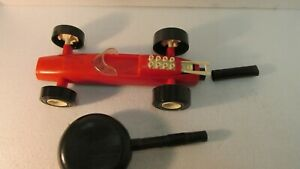 Vintage 1970's Hasbro Hot Foot Racer Kellogg's Mail Away Red Car t3370