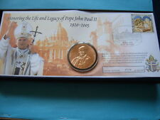 POPE JOHN PAUL II CATHOLIC CHURCH BRONZE ROUND COIN COA BOX SHARP