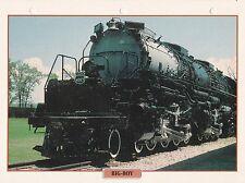 TRAINS DE LEGENDE - BIG-BOY LOCOMOTIVE 1941 USA FICHE CLASSEUR
