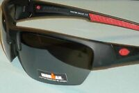90aeeafa6d Ironman Unisex Mat Black Rubberized Semi Rimless Sunglasses Shatter  Resistant  2