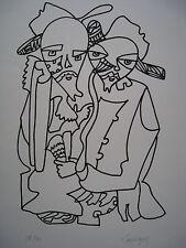 LAPICQUE Charles Lithographie lithograph signée num Hommage à Dostoïevski 1967++