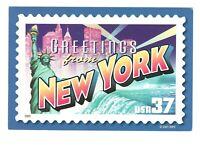 Greetings From New York Vintage Unused 4x6 Postcard A128