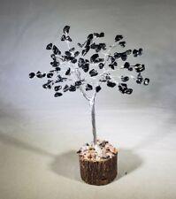 NATURAL BLACK TOURMALINE GEMSTONE CHIP TREE WITH 100 STONES CRYSTAL TREE OF LIFE