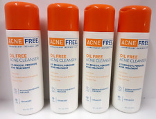 AcneFree Oil Free Acne Face Wash Micronized Benzoyl Peroxide (LOT OF 4)