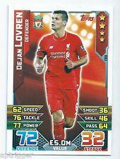 2015 / 2016 EPL Match Attax Base Card (130) Dejan LOVREN Liverpool
