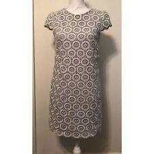 Suzi Chin Silver Gray Lace Shift Dress 6P