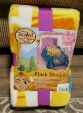 DISNEY PRINCESS TANGLED PLUSH THROW BLANKET BED COVER~NEW~62 X 60 BEST FRIENDS