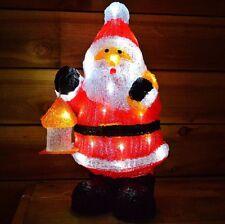 """46 cm (18"""") acrylique permanent DEL Light Up Santa/Père Noël Décoration"""