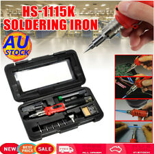 AU HS-1115K 10in1 Professional Butane Gas Soldering Iron 26ml Welding Kit Torch
