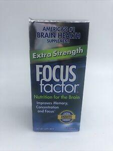 Focus Factor EXTRA STRENGTH- Memory Concentration Focus - DMAE, Vitamin D 11/21