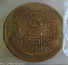 2 francs morlon 1940 : TB : pièce de monnaie française
