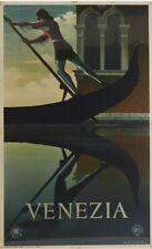 Original Vintage Poster VENEZIA Art Deco Venice Italy Italian Travel CASSANDRE