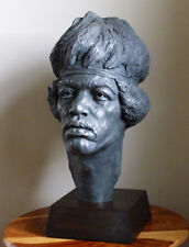 CC Bronze bust of Rock Legend Jimi Hendrix.. Edition of 50. Signed certificate