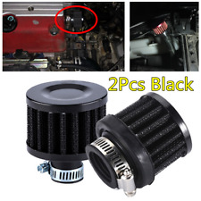 "2Pc 1"" Black Non-woven Fabric+Metal Crankcase Ventilation Filter Kit For Car SUV"