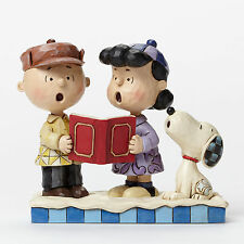 Jim Shore Peanuts Charlie Brown Lucy & Snoopy Peace on Earth 4045883 NEW NIB