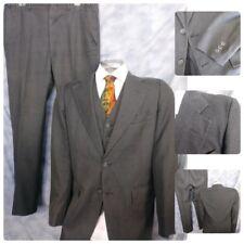 New listing Vtg Hardwick 39L Grey Pin Stripe 3Pc Suit 2B 1V Long Jacket 36X32.5 Pants