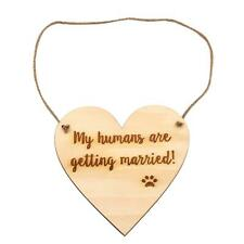 Lparkin Engagement Photo Prop Dog Sign - My Humans are Getting Married (White)