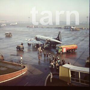 60 x 60 glass slide  aeroplane aircraft plane Air France c1950s r22