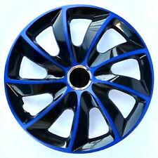 4x ruotino Radblenden Stig extra 15 Pollici Nero Blu