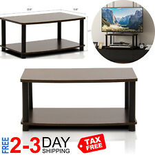 Modern Brown Coffee Table Small Wood Storage TV Stand Living Room Furniture New