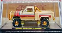 M2 MACHINES 1976 GMC SIERRA GRANDE 15 DESERT FOX PICK UP TRUCK CHASE -Tan, 1/750