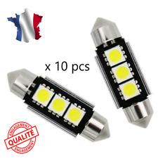 10 Ampoule Navette LED C5W 36mm ANTI SANS ERREUR CANBUS Plafonnier Plaque 6000k
