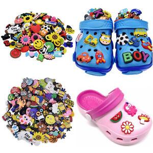 Lot of 50 100 150 200pcs Cartoon Random PVC Shoes Charms For Crocs & Wristbands