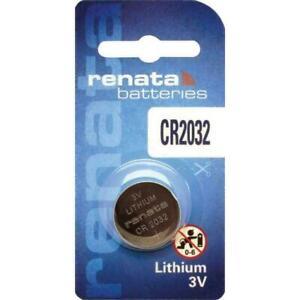RENATA CR2032 3V 3 VOLT BLOCK BATTERY COIN CELL 2032 LITHIUM POWER (2 PACK)