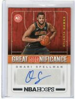 Omari Spellman RC Auto Atlanta Hawks 2018-19 NBA Hoops Great Significance #GS-OS