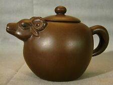 Chinese Yixing Rams Head Teapot & Cover