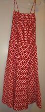 Ann Taylor LOFT Red And White Petal Print Adjustable Spaghetti Strap Dress