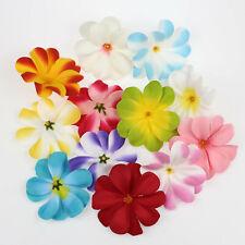 "100X Bulk Hawaiian 3"" Artificial Silk Frangipani Flowers Heads Wedding DIY Decor"