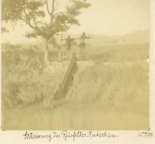 Chine, China, Fuzhou (Fuchow), Fujian, photo des troupes Allemandes  Vintage cit