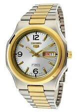Seiko 5 Automatic Mens Watch Two tone See Through Back SNKK62K1 UK Seller