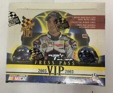 2003 Press Pass VIP Factory Sealed NASCAR Racing Hobby Edition Box