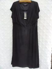 IGIGI New Knit Dress Misses 14 16 Black Polyester NWT San Francisco Designer