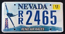 "NEVADA "" RENO AIR RACE - MUSTANG P-51 - AIRCRAFT "" NV Specialty License Plate"