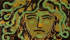 Carlo Massimo Franchi, Medusa, tecnica mista, 14x24 cm, firmato