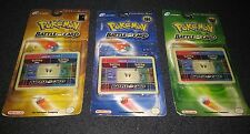 Pokemon e-Reader Battle e-Card x3 DIFFERENT SETS SEALED trading cards