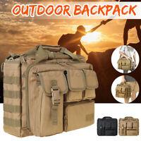 Men Tactical Messenger Shoulder Sling Bag Molle Crossbody Pack Outdoor Hiking