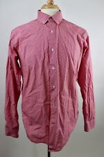 Andrew Fezza Size 16-34/35 Slim Fit Button Front Dress Shirt Red FLAWED