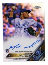 MIGUEL ALMONTE MLB 2016 TOPPS CHROME ROOKIE AUTOGRAPH REFRACTOR (KANSAS ROYALS)