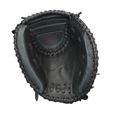 Easton Youth Black Pearl Fastpitch Series 33in Softball Catcher Mitt Black/Aqua