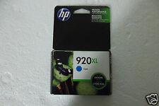 HP 920XL Ink Cartridge Cyan OfficeJet 7000 6000 Expires:01/2017 CD972AN #140 NEW
